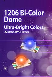 1206 Bi-Color Dome Ultra-bright color LEDs