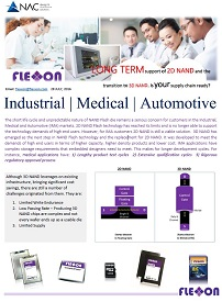 Long Term Support for 2D NAND and the transistion to 3D NAND for industrial, medical, and automotive applications