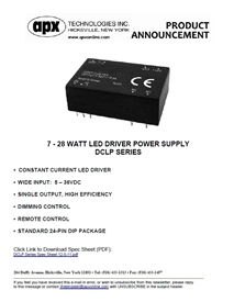 APX 7-28 Watt LED Driver Power Supply