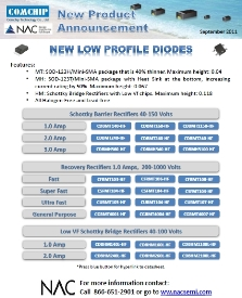 Comchip releases New Low Profile Diodes