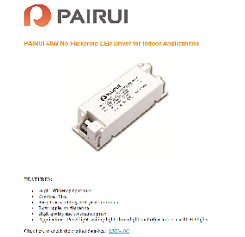 PAIRUI 40W No Flickering LED Driver