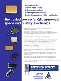 PDI QPL Approved for MIL-PRF-38534 Crystals