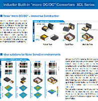 "Inductor Built-in ""micro DC/DC"" Converters XCL Series"
