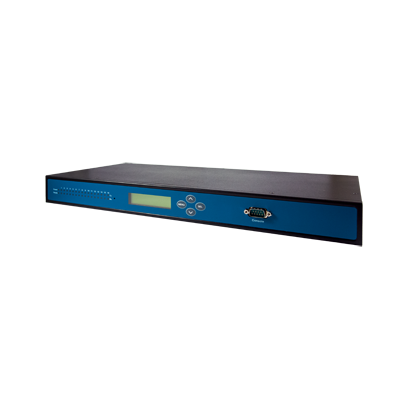 16-Port Industrial Secure Rack-mounted Serial Device Server Remotely monitor, manage, and control industrial field devices Industrial EMC