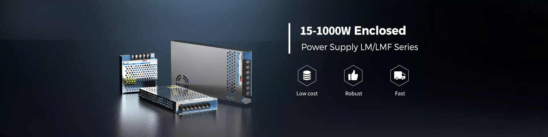 15-1000W Enclosed Switching Power Supply LM/LMF SMP
